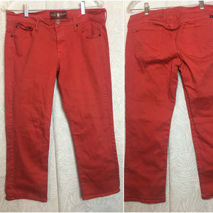 LUCKY BRAND Cropped Capri Bright Orange Jeans